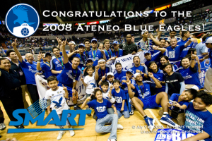 ADMU Eagles pose for their Championship photo