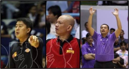 Kenneth Duremdes, Yeng Guiao, Leo Isaac, and Bo Perasol