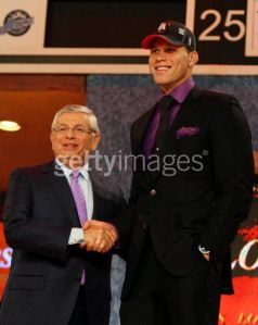 L-R: COMM. DAVID STERN AND BLAKE GRIFFIN